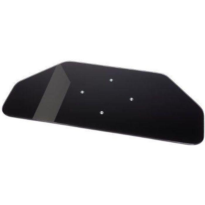Hama 84029 plateau rotatif en verre noir pour l achat vente meuble tv hama 84029 plateau for Plateau en verre pour bureau