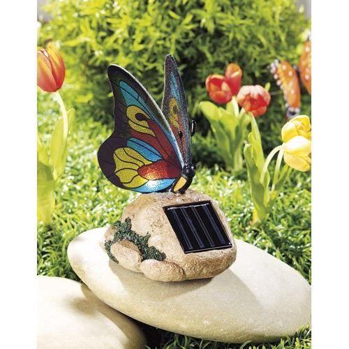 D coration de jardin led 39 39 papillon color 39 39 meganov achat vente d coration lumineuse - Deco jardin colore le mans ...