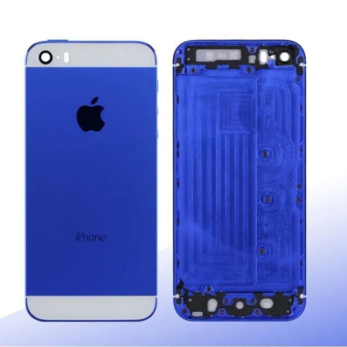 ch ssis coque fa ade arri re pour iphone 5s bleu achat coque bumper pas cher avis et. Black Bedroom Furniture Sets. Home Design Ideas