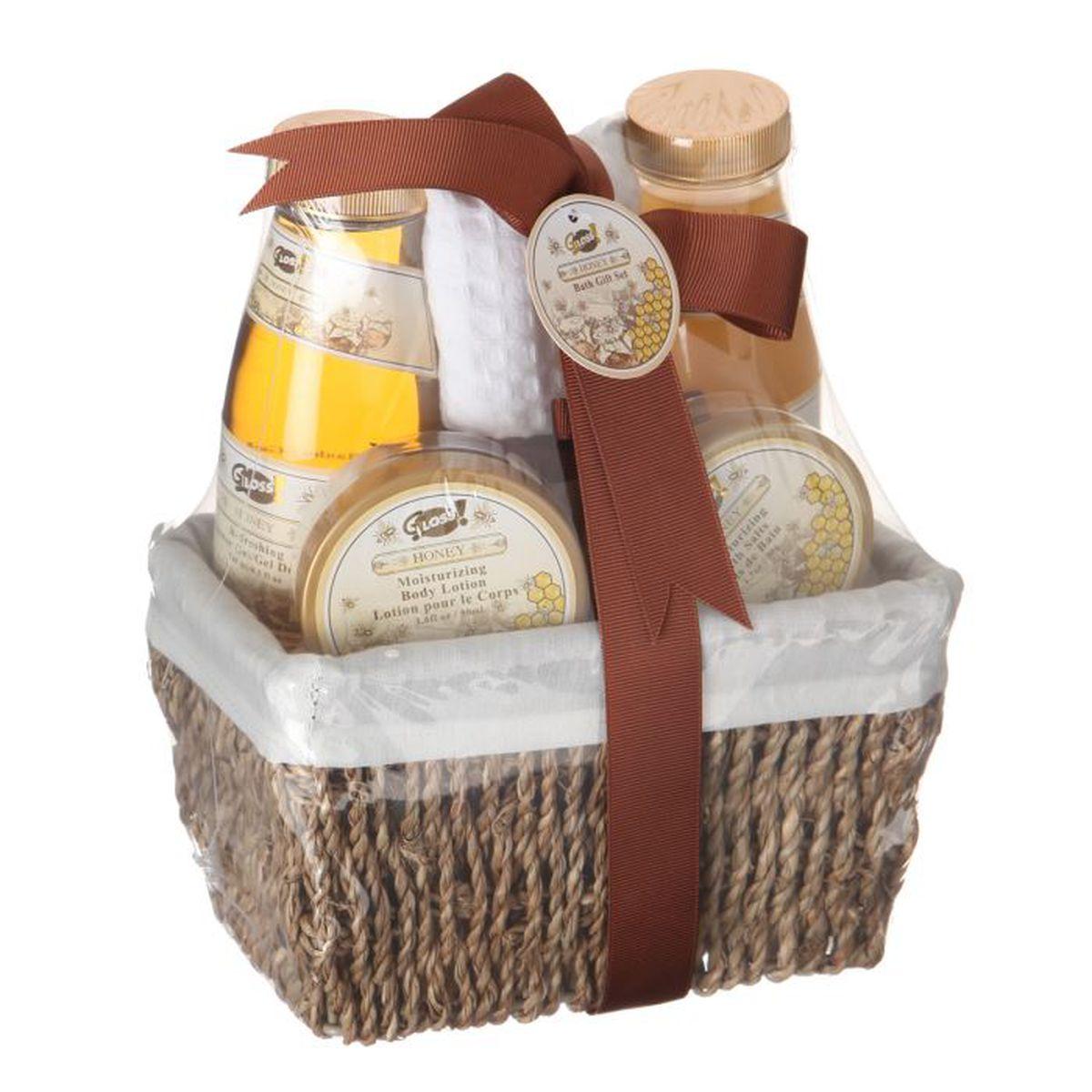 Coffret de bain miel x1 achat vente coffret cadeau for Coffret salle de bain