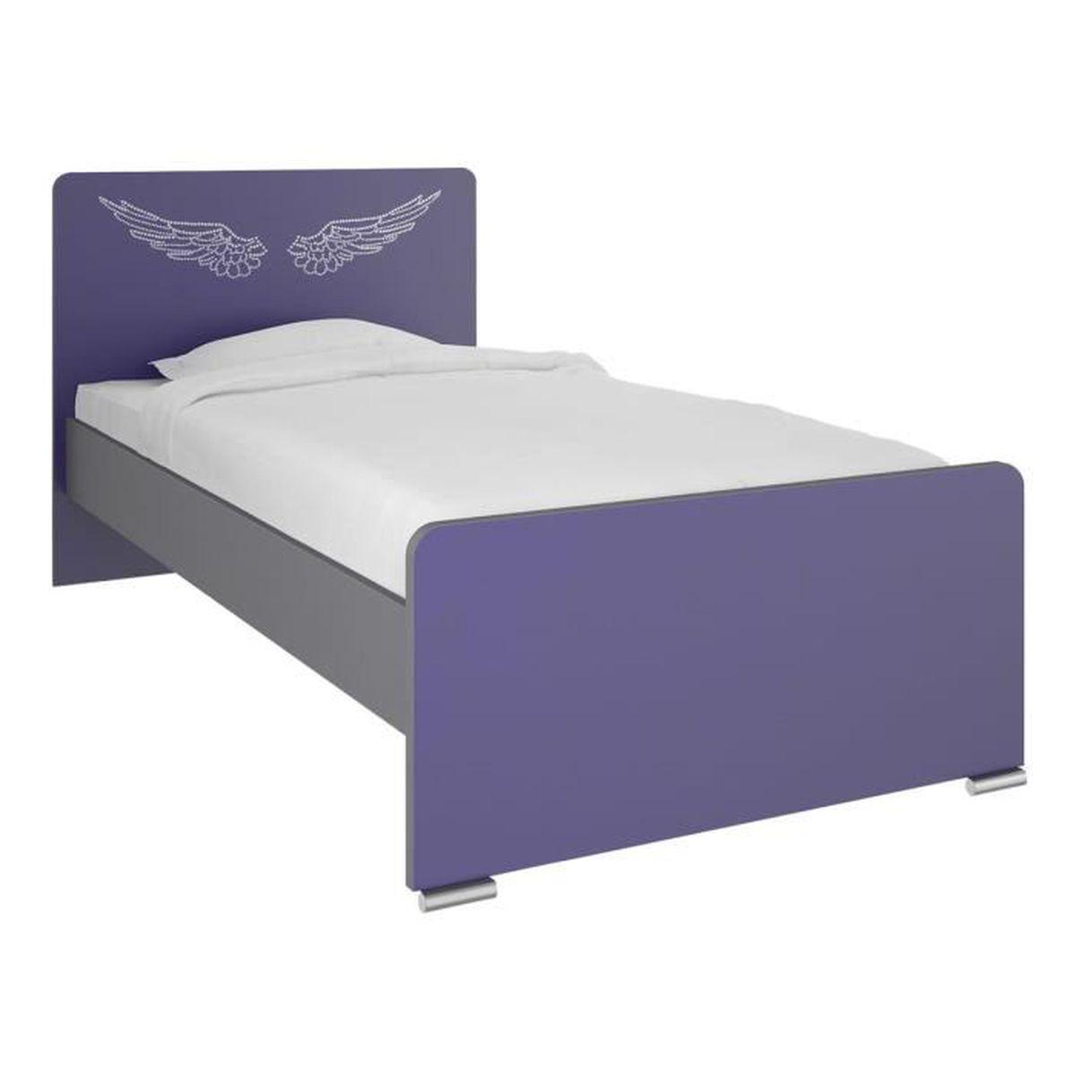 Lit enfant en panneaux de particules l120 x h45 90 x p194cm achat vente - Achat de lit en ligne ...
