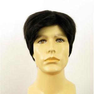 perruque homme noire cheveux naturels PIERRE 1b