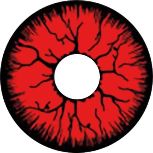 Lentilles rouge inject e de noire monstre d mon rouge for Domon bijouterie