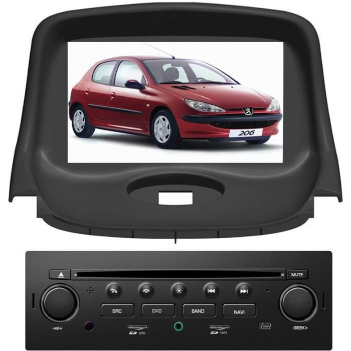 autoradio pour peugeot 206 avec gps 7 pouces achat. Black Bedroom Furniture Sets. Home Design Ideas