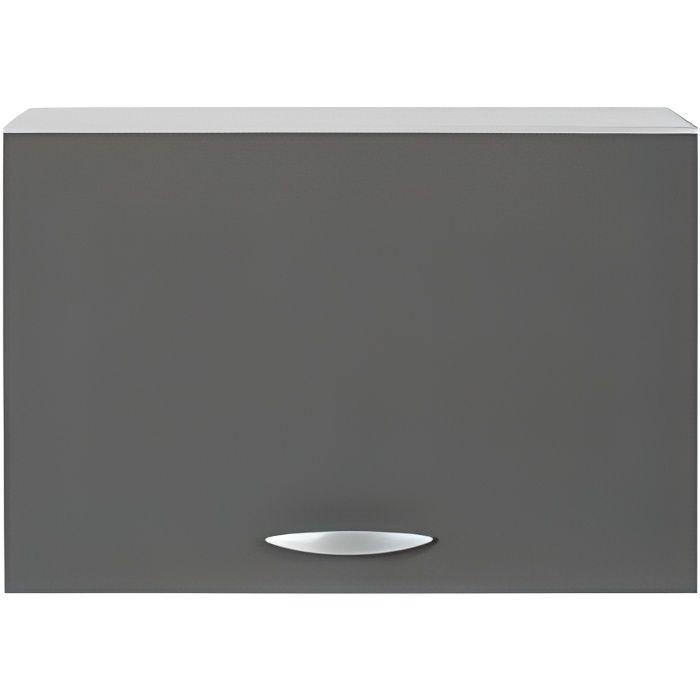 Meuble cuisine haut hotte de 60 cm oxane gris achat for Hotte sous meuble haut