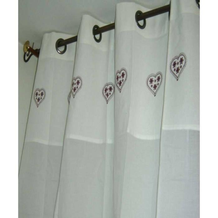 rideau organdi montagne 8 oeillets zermatt chocolat achat vente rideau tissu 100 coton. Black Bedroom Furniture Sets. Home Design Ideas