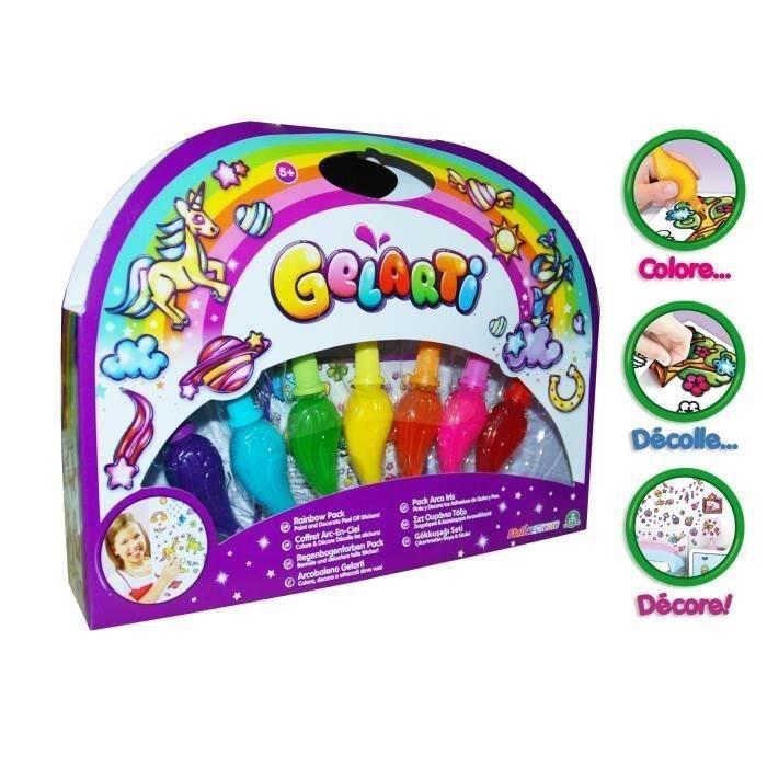 Giochi Un coffret comprenant 4 tubes de gel coloré, 3 tubes de gel