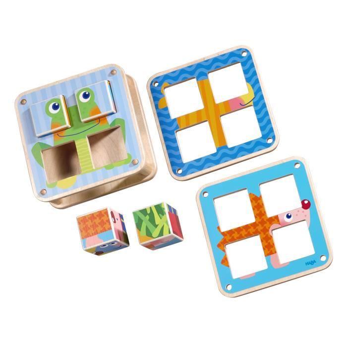 Cubes puzzle les animaux du jardin achat vente bo te forme gigogne cdiscount - Les animaux du jardin ...