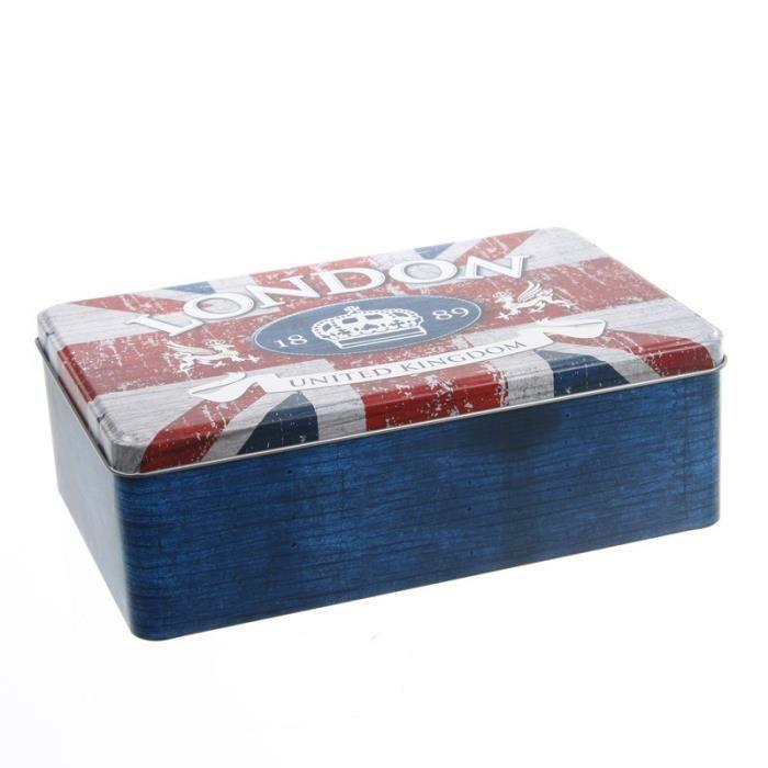 paris prix bo te sucre london bleu achat vente boite sucre cdiscount. Black Bedroom Furniture Sets. Home Design Ideas