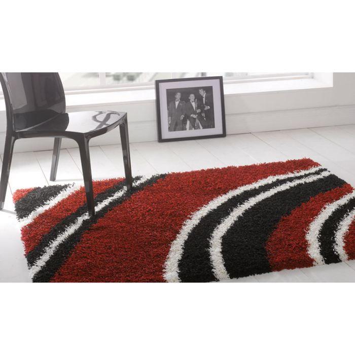 tapis poils long crescent red cm 120x160 achat vente tapis tapis poils long crescent r. Black Bedroom Furniture Sets. Home Design Ideas