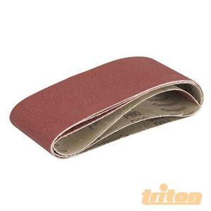 TRITON Lot de 3 feuilles abrasives pour la ponceuse ? bande compacte Triton