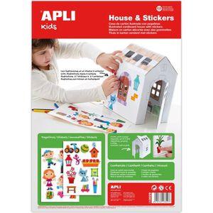 kit gommette maison assembler colorier et d corer apli agipa achat vente puzzle. Black Bedroom Furniture Sets. Home Design Ideas