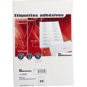 Étiquette classement Etiquette adresse coin carre 7,0x 3,7 - x2400