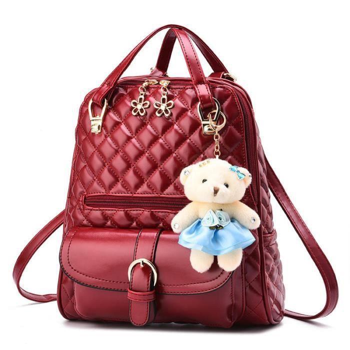 sac dos femme sac femme sac dos de marque rouge sac. Black Bedroom Furniture Sets. Home Design Ideas