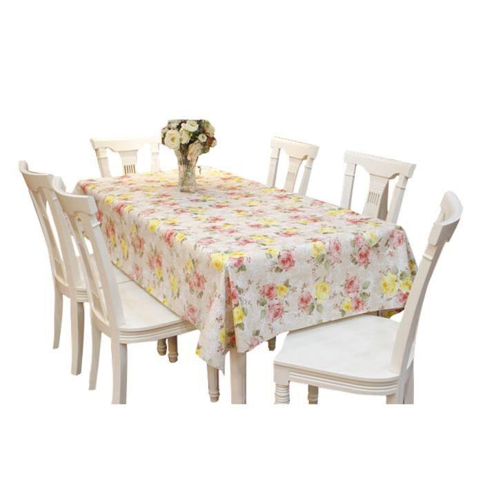 pvc moderne tanche nappe mat mer de fleurs 137 220cm achat vente nappe de table. Black Bedroom Furniture Sets. Home Design Ideas