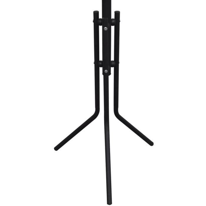 magnifique portemanteau sur pied metal noir achat. Black Bedroom Furniture Sets. Home Design Ideas