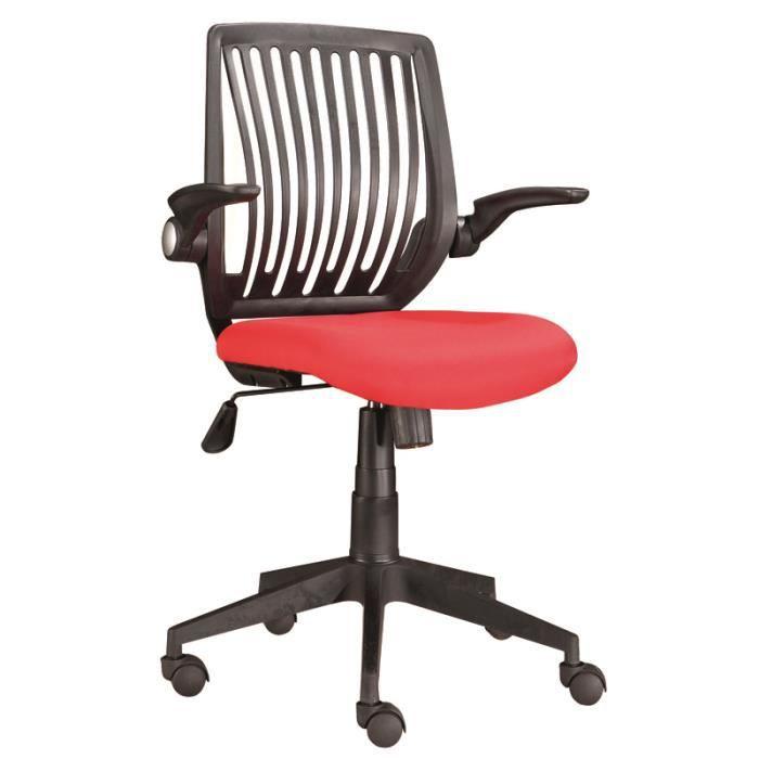chaise de bureau rouge 5 roulettes dimensions achat vente chaise de bu. Black Bedroom Furniture Sets. Home Design Ideas