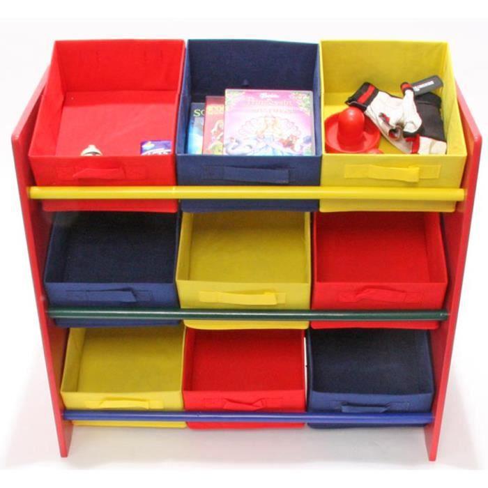 etag re color pour enfant en bois avec 9 tag achat vente meuble tag re etag re color. Black Bedroom Furniture Sets. Home Design Ideas