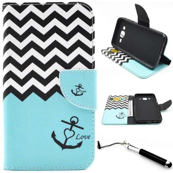 Waves téléphone Protection Housse Étui Flip Cover Pour Samsung