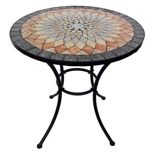 table ronde mosaique resine 70 cm achat vente table a manger seule table ronde mosaique. Black Bedroom Furniture Sets. Home Design Ideas