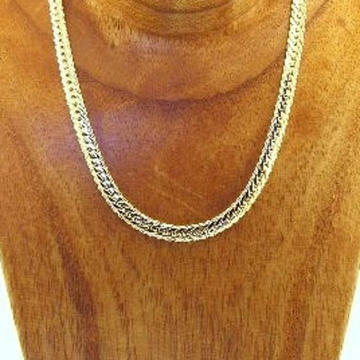 collier plaqu or maille anglaise diamant e achat vente sautoir et collier collier plaqu. Black Bedroom Furniture Sets. Home Design Ideas