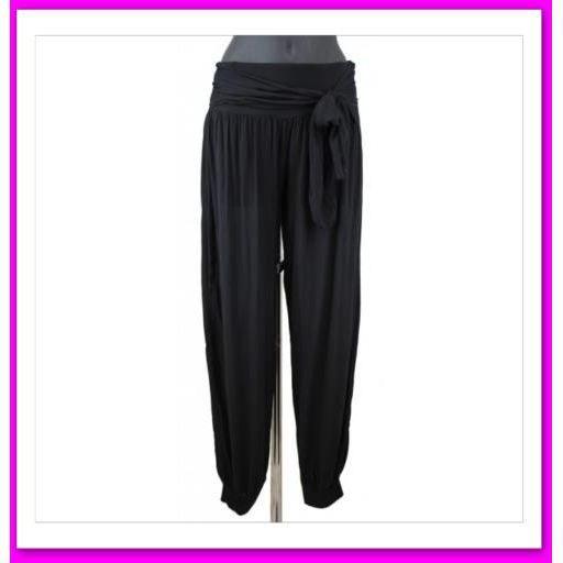 pantalon fluide devant nouer sensuel noir achat vente pantalon 2009997174297 cdiscount. Black Bedroom Furniture Sets. Home Design Ideas