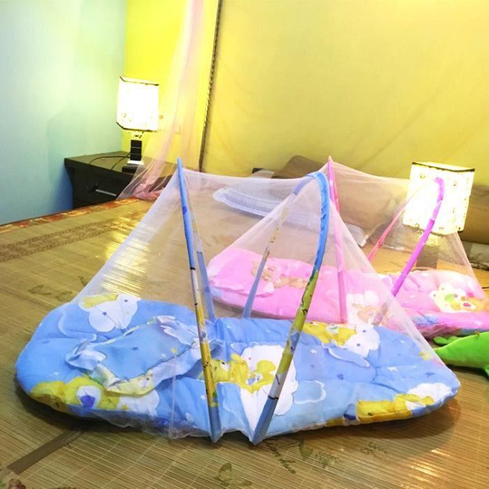 anti moustique 3 en 1 ciel de lit matelas oreiller pour b b 1 3 ans rose bleu bleu bleu et rose. Black Bedroom Furniture Sets. Home Design Ideas
