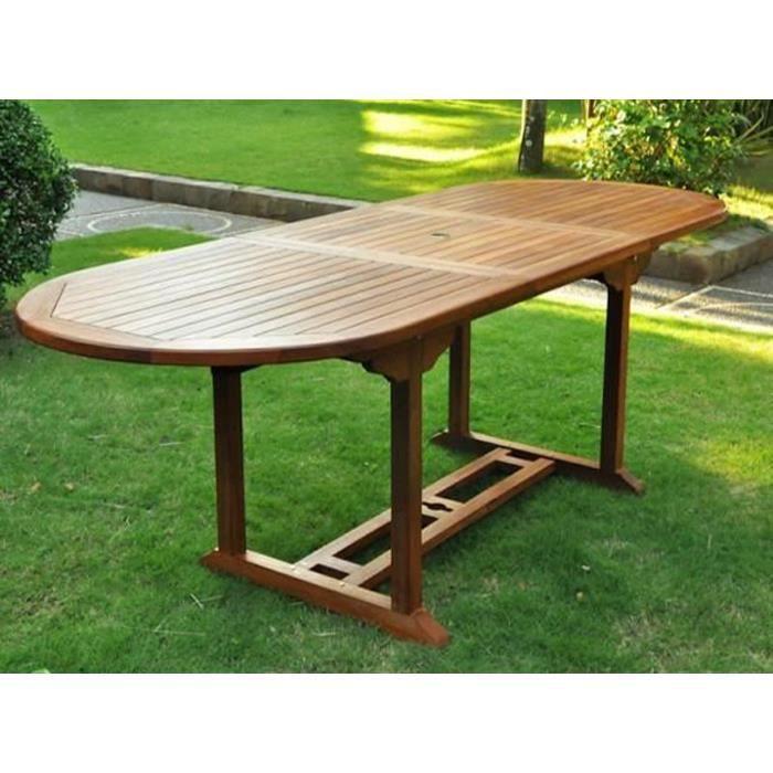 Table Ovale Extensible En Teck L 120 180 X L 90 X H 75
