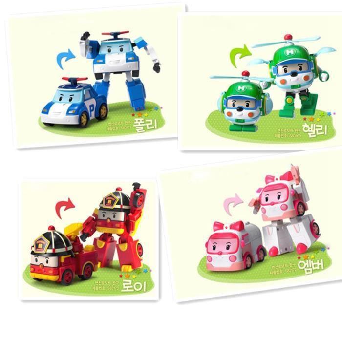 4pcs set robocar poli robot transformation de voitures - Dessin anime robocar poli ...
