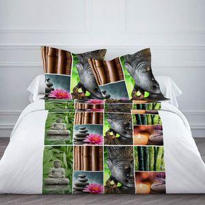 parure de lit bouddha 240 x 220 cm achat vente parure de drap cdiscount. Black Bedroom Furniture Sets. Home Design Ideas