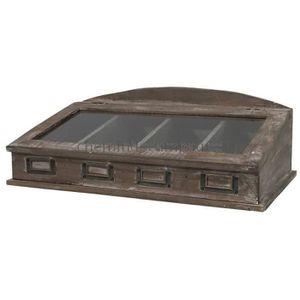 boite rangement couvert achat vente boite rangement couvert pas cher cdiscount. Black Bedroom Furniture Sets. Home Design Ideas