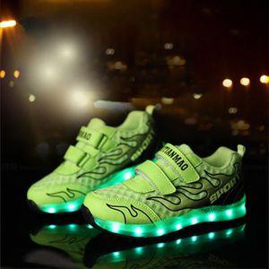 BASKET Lumière Led enfants chaussures bébé colorful Le...