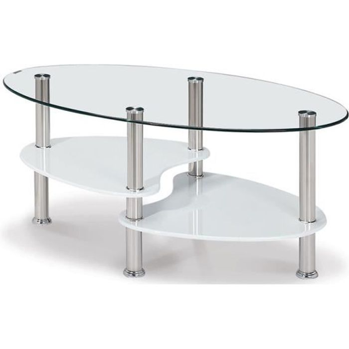table basse en verre ovale achat vente table basse en. Black Bedroom Furniture Sets. Home Design Ideas