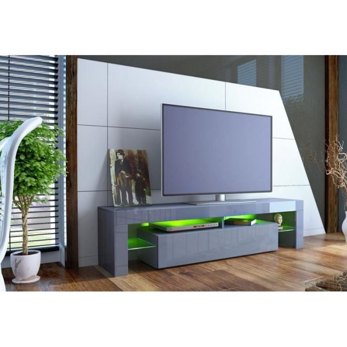 meuble tv design laqu gris oui gris gris achat. Black Bedroom Furniture Sets. Home Design Ideas
