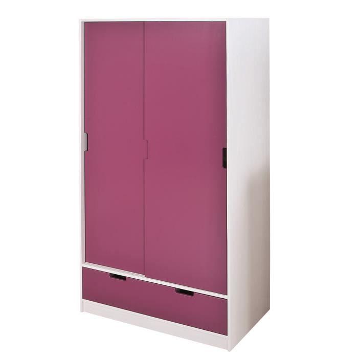 Sofia armoire 2 portes coulissante for Armoire porte coulissante profondeur 50
