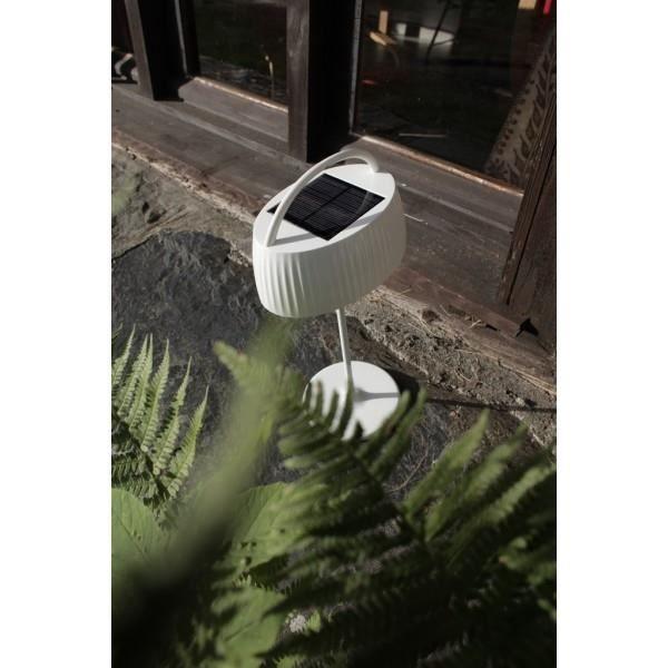 Lampe solaire r tro pop blanche de table achat vente for Lampe de table blanche