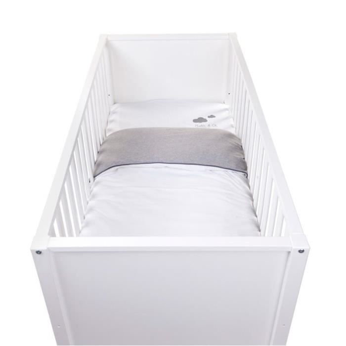 Housse de couette 100x140 et taie jersey clear whi achat - Housse de couette jersey ...