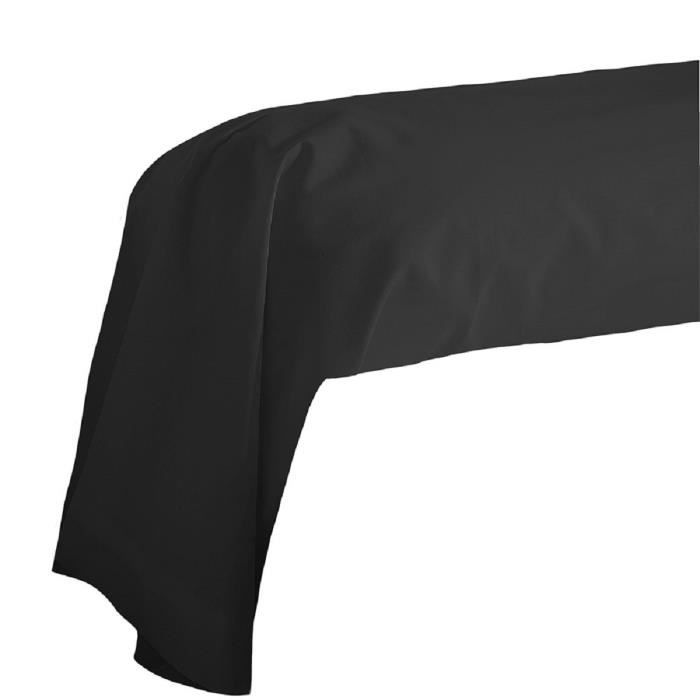 Cote Deco Taie De Traversin Coton Noir 85x185cm Achat