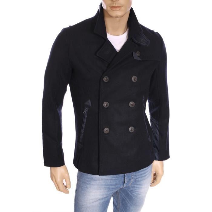 kaporal homme caban crois en laine toxy bleu marine hiver 2016 bleu achat vente manteau. Black Bedroom Furniture Sets. Home Design Ideas