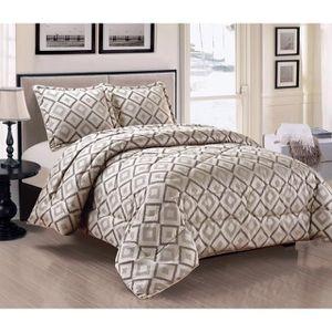 couvre lit noir achat vente couvre lit noir pas cher. Black Bedroom Furniture Sets. Home Design Ideas