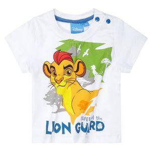 T-SHIRT T-shirt manches courtes bébé La garde du Roi lion