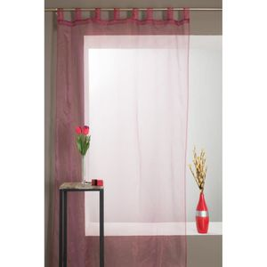 rideaux voilage a patte 140x240 cm achat vente rideaux voilage a patte 140x240 cm pas cher. Black Bedroom Furniture Sets. Home Design Ideas