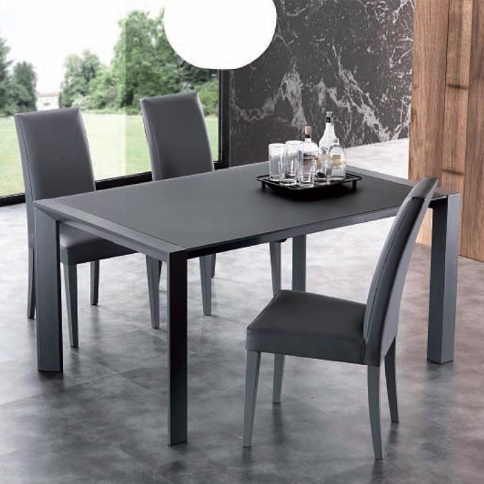 Table extensible de salle manger avec plateau en crystal for Table salle manger plateau zinc