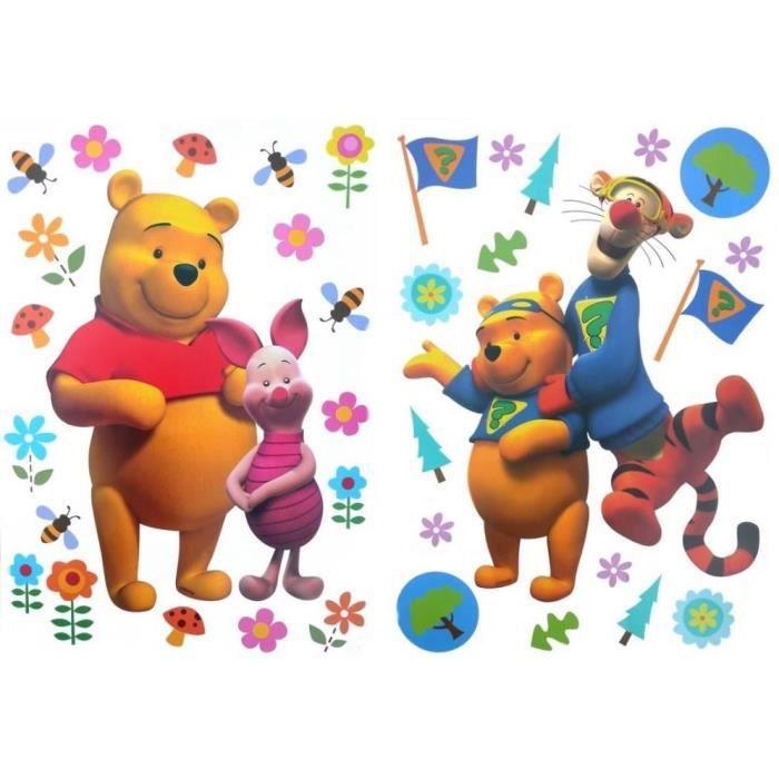 Stickers winnie l ourson porcinet et tigrou duo achat for Decoration murale winnie l ourson