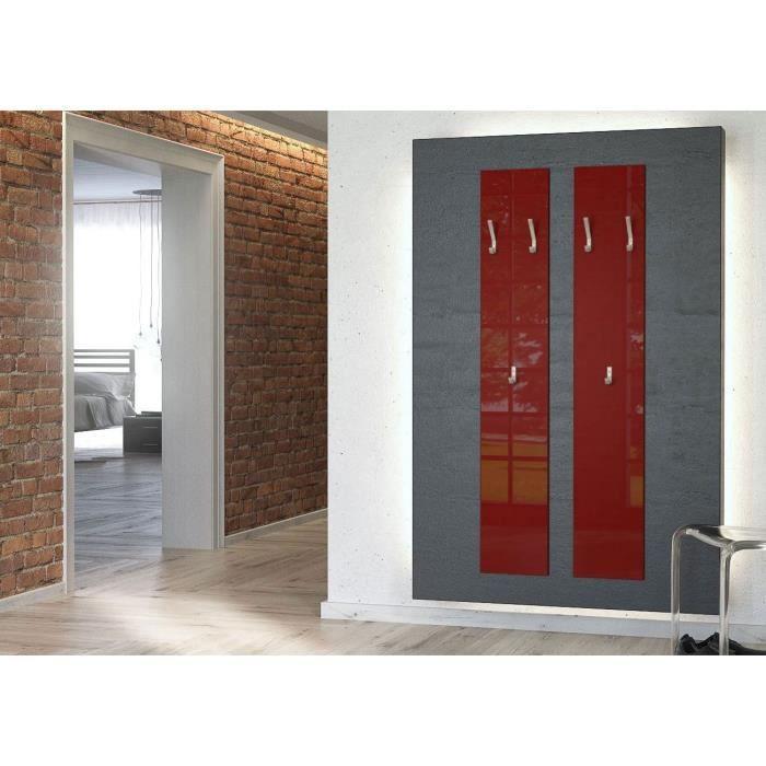 Deux porte manteaux bordeaux 140 cm achat vente porte manteau cdiscount for Achat porte interieur bordeaux