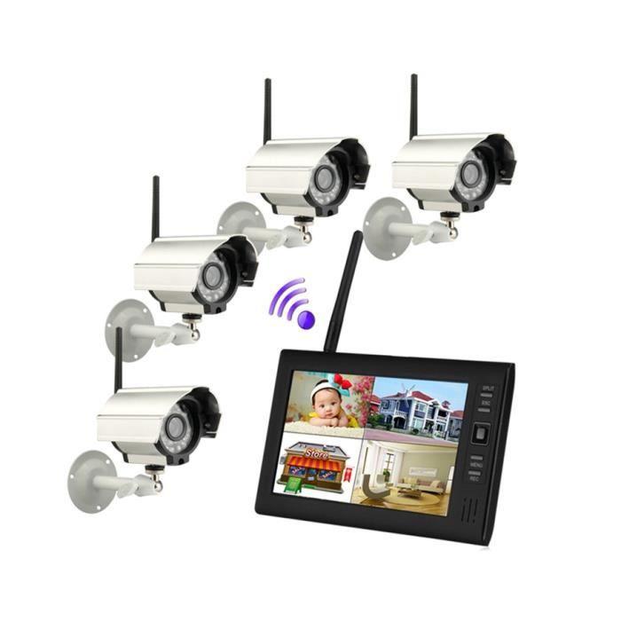 sy602d14 7 tft num rique 2 4g sans fil cam ras audio vid o surveillance de b b security system. Black Bedroom Furniture Sets. Home Design Ideas