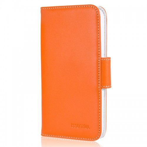 telephonie accessoires portable gsm etui portefeuille cuir iphone  s issentiel or f iss