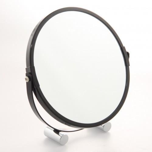 Miroir 2 faces pivotantes sur pieds noir achat vente for Miroir trois faces salle de bain