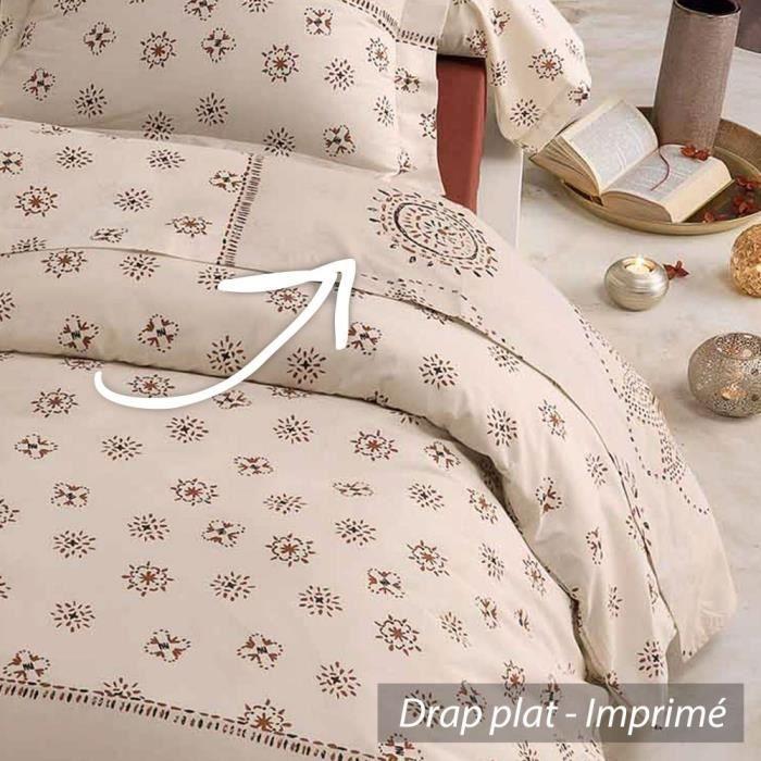 drap plat 180x290cm 100 coton atlas achat vente drap. Black Bedroom Furniture Sets. Home Design Ideas