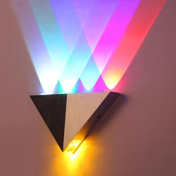 Applique murale en aluminium 5w triangle led lampe de mur for Lampe de chevet murale